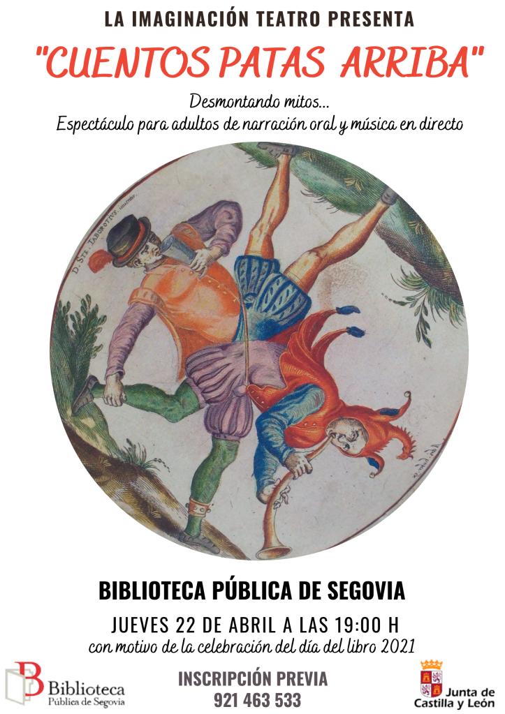 """Presentación el 22 de abril de """"Cuentos Patas Arriba"""" en la Biblioteca Pública de Segovia"""